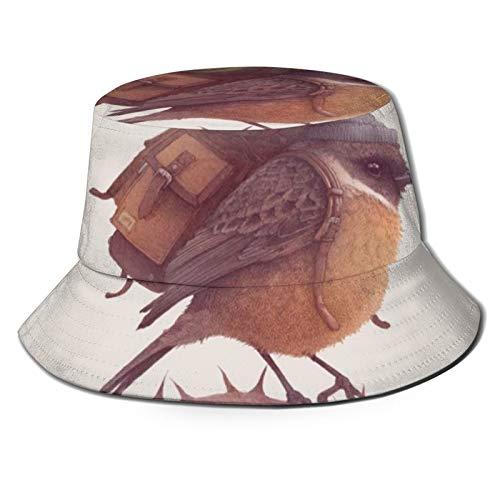 DOWNN Sombrero de pescador 3D para llevar una mochila para viajar plegable sombrero de verano sombrero de sol para hombres y mujeres negro