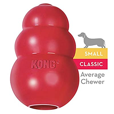 KONG - Classic Dog Toy - Durable Natural Rubber - Fun to Chew, Chase and Fetch - for Small Dogs