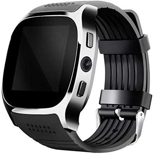 Bluetooth reloj múltiples idiomas soporte tarjeta SIM TF 2MP cámara monitor de sueño podómetro impermeable deportes reloj inteligente (color: negro)-negro