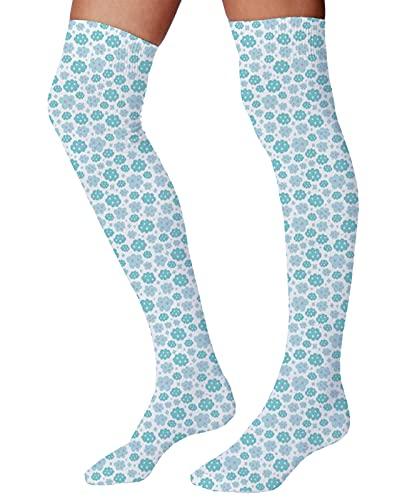 Calcetines para hombre y mujer, diseño abstracto de geometría de estilo moderno clásico con rayas redondas, Multicolor6, Talla única