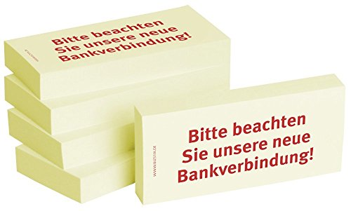 Notizblock24 1301010140 Haftnotiz Bitte beachten Sie unsere Bankverbindung