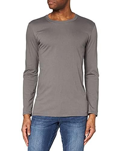 Gildan Soft Style L/Sleeve T Shirt, Gris (Anthracite), XL Homme