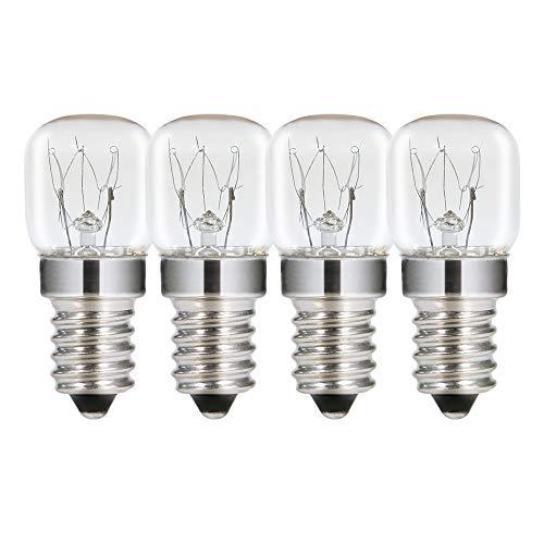 T22 Ofenbirne 15W 230V, SES E14 Dimmbare Salzlampe, Comyan Glühbirne für Mikrowellenglühlampen Bis zu 300 Grad - 4er Pack