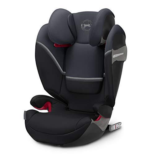 CYBEX Gold Kinder-Autositz Solution S-Fix, Für Autos mit und ohne ISOFIX, Gruppe 2/3 (15-36 kg), Ab ca. 3 bis ca. 12 Jahre, Granite Black