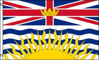 AZ FLAG Drapeau Colombie-Britannique 150x90cm - Drapeau Canadien - Canada 90 x 150 cm - Drapeaux