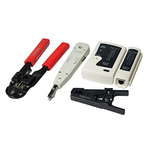 LogiLink WZ0012 5in1 Netzwerk Werkzeug Set für RJ11, RJ12, RJ45 inkl. Tasche