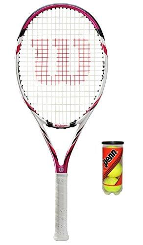 M D Trading Wilson Six Two BLX Pink Tennisschläger + 3Tennisbälle, 120