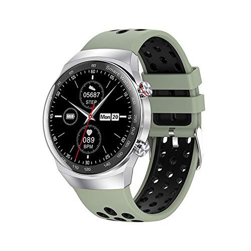 JXFF AK26 Smart Watch Bluetooth Call MP3 Reproductor De Música Local Local Toque Completo Tipo De Corazón Presión Arterial IP68 Pulsera De Fitness Impermeable para Android iOS,C