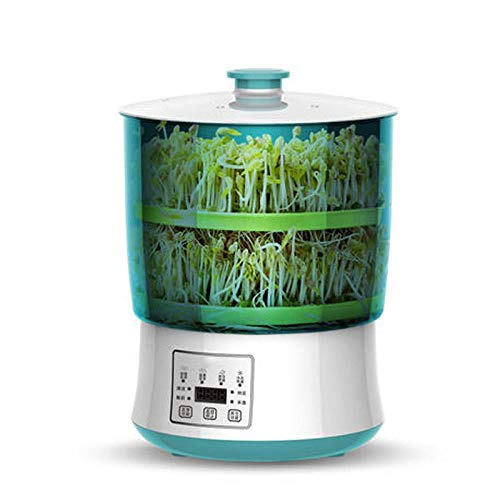 DFGHJ Electric Intelligence Bean Sprouts Maker Yogurt Machine Natto Rice Wine Green Seed Vegetable Seedling Growth Bucket 2/3 Layers 2Layers
