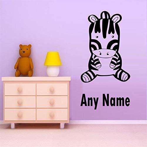 Hetingyue Personaliseer je voetgangerstrips met elke naam, verwijderbare muursticker voor familie, kleuterschool