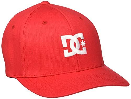 DC Shoes Cap Star - Gorra para Hombre Gorra Flexfit®, Hombre, Tango Red, S/M