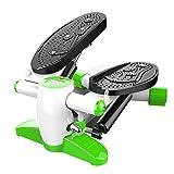 JKLL Fitness esercizio ellittico Twister Stepper - Acciaio di qualità migliorato, facile allenamento sotto la scrivania, display digitale, trainer ellittico a banda di resistenza brucia il 15% di calo