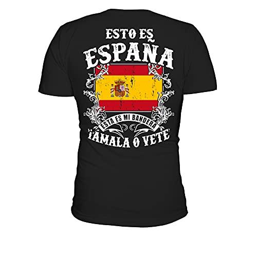 TEEZILY Camiseta Hombre Esto ES ESPAÑA - Negro - M