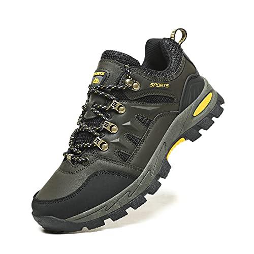Zapatillas Senderismo Hombres Ligeras Antideslizantes Transpirable Botas de Montaña Zapatillas Trekking Mujer Verde