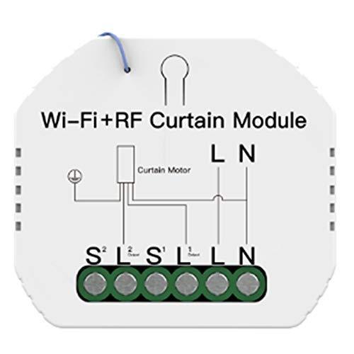 DealMux WiFi Módulo de interruptor de cortina inteligente Persiana enrollable El motor de persiana enrollable Smart Life Tuya APP Control funciona con Alexa
