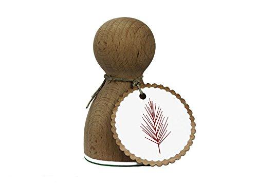 Sello grande XL con diseño de árbol n.º 2, para tarjetas, regalos y manualidades caseras, sello de madera de alta calidad, 78 x 46 mm, redondo, también bonito como regalo