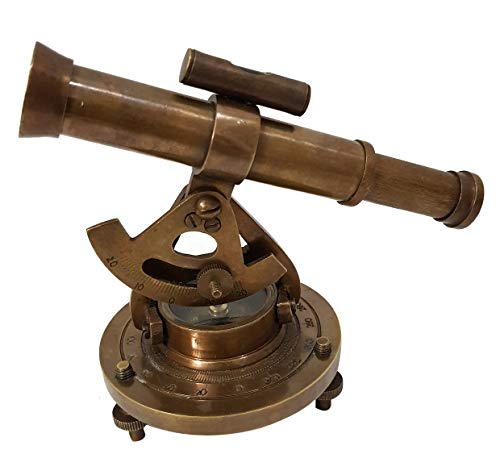 collectiblesBuy Antique Brass Nautical Alidade Telescope Compass Surveying Theodolite Marine Table Decor