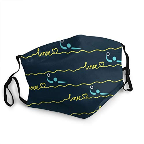 love water polo heart best mom gift Unisex Adjustable Anti-Dust Face Mouth Dust for Reusable