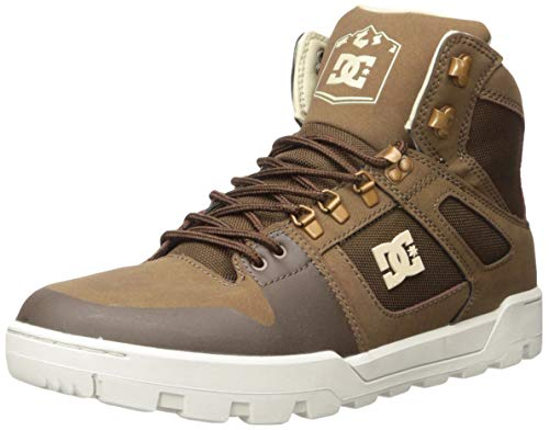 DC Men's Pure HIGH-TOP WR Boot Snow, Brown, 9 M US
