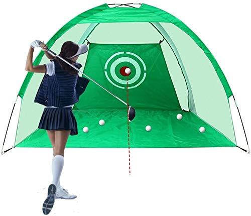 libelyef 2M Golf Schlagnetz, Faltbares Golf Chipping Netz Trainingshilfen Golf Übungsnetz Für Hinterhof Indoor Outdoor, Testbereich, Schaukel Und Schläger Verbessern