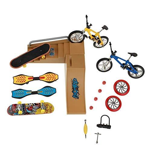 Sungpune Patinetas Dedo Juguetes Set Parque del patín Kit Mini Scooter de Bicicletas monopatín Lugar Set para niños Manos de Formación 1 Pack