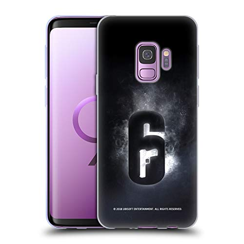 Head Case Designs Officially Licensed Tom Clancy's Rainbow Six Siege Glow Logos Soft Gel Case Compatible with Samsung Galaxy S9