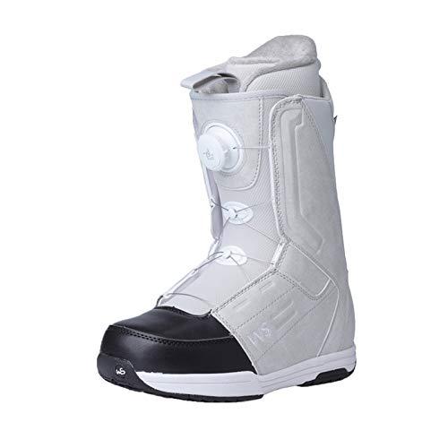 XZZ Snowboardstiefel Snowboard Boot, Rundum Flache, Geschnitzte Snowboardschuhe, TGF Steel Wire Lace System, wasserdichte Skischuhe, Unisex, Hellgrau