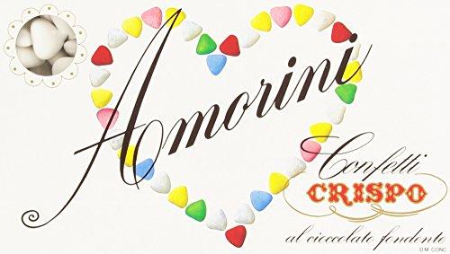 Amorini - Confetti Crispo Bianchi, al Cioccolato Fondente , 1 kg