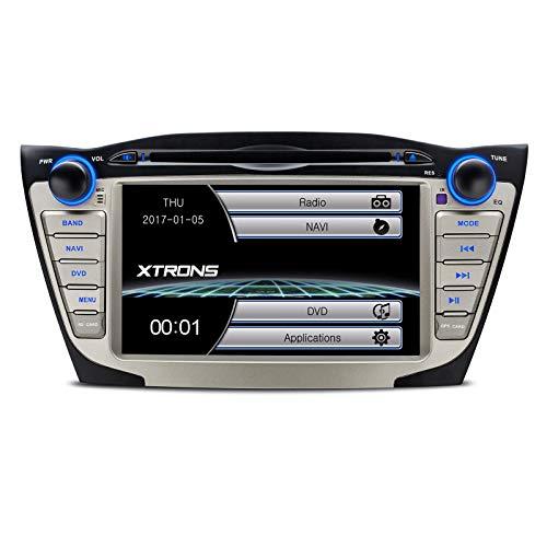 XTRONS® Doppel 2 DIN 17,8 cm HD Touchscreen Autoradio DVD GPS Navi Player mit Screen Mirroring Funktion für Hyundai ix35 Tucson