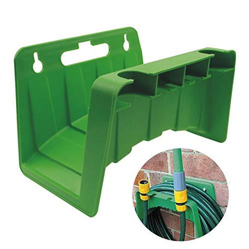 Soporte para Manguera para Pared/ Soporte para Manguera de Agua/ Soporte Manguera Jardín/ Colgador de Manguera Jardín 24cm x 16cm x 16cm (Verde)