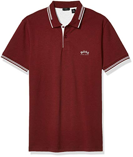 Hugo Boss Paul Modern Essential Polo para Hombre, Burgundy/Light Gray/White, 3X-Large