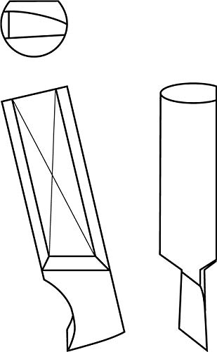GFS fÃ1ï 4R Tipo 00 y 00a Cuchillo F. Tipo 00 y 00a Tipo 422 li. HSS-Co - Broca de corte (5 mm, GFS, tipo 422, izquierda, HSS-Co)