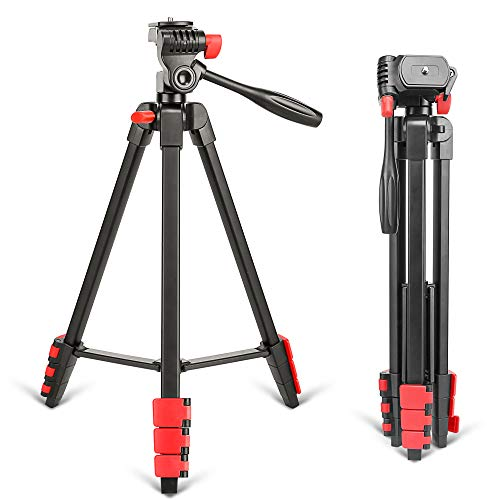 ZOMEI T90 Lightweight Tripod Professional Bluetooth Remote Control Tripode Stand with Phone Holder for Camera Gopro Smartphone (ZOMEi T90 RED)