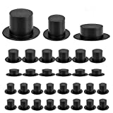 Anyasen 60 Piezas Mini Sombreros de Copa Negro Sombreros de