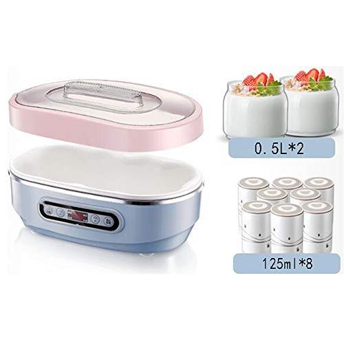 ZSQAI Joghurt-Maschine - hausgemachte gebratene Joghurt-Maschine, automatische kleine Reiswein-Haushaltsmaschine, Kimchi-Maschine, Natto-Maschine Keramikliner Glas