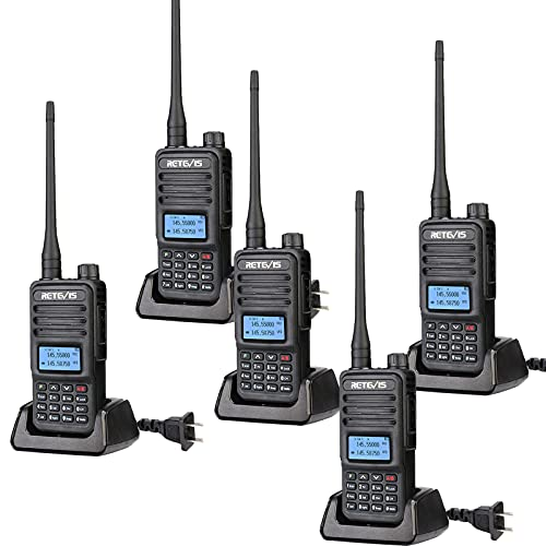 Retevis RT85 Dual Band Two Way Radios,High Power 2 Way Radios Walkie Talkies Long Range,200 Channel,VOX, for Rescue,Construction,Warehouse(5 Pack). Buy it now for 139.99