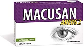 Macusan Areds 2 Dry Eye Tablets for Age-Related Eye Health,Eye Vitamin & Mineral Supplement with Lutein, Zeaxanthin & Gink...
