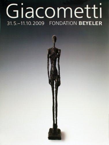 "Alberto GIACOMETTI Grande Femme III 50.25"" x 35"" Poster 2009 Modernism Black & White, Gray"