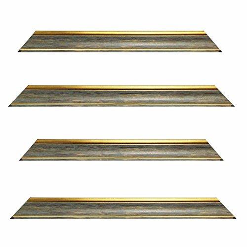 Barokke frame 10941, 247 Gri grijs met gouden rand, als maat, lege lijst, wissellijst of spiegel