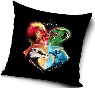 Harry Potter - Funda de cojín decorativa, 40 x 40 cm, poliéster, 40 x 40 cm, Hogwarts dormos, nunquam tilillandu s