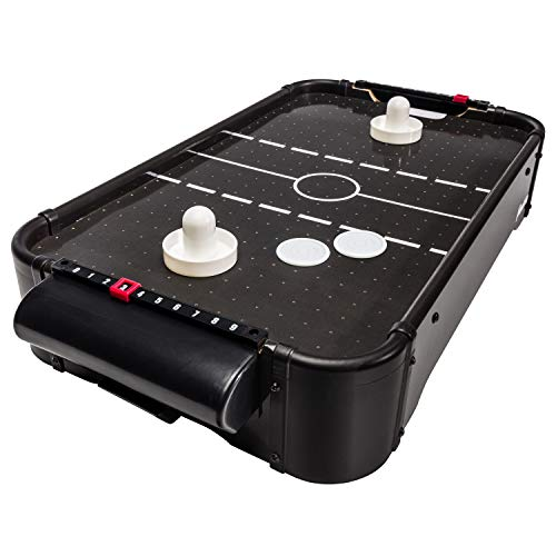 Franklin Sports 20In Air Hockey Strong Fans - Two Hockey Pushers and Hockey Pucks Included - Table Top Mini Air Hockey Perfect for Family...