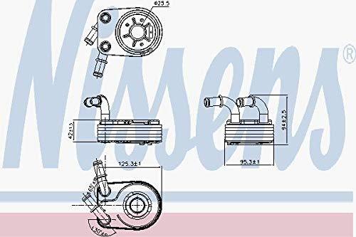 Nissens 90794 Radiateur d'huile de moteur