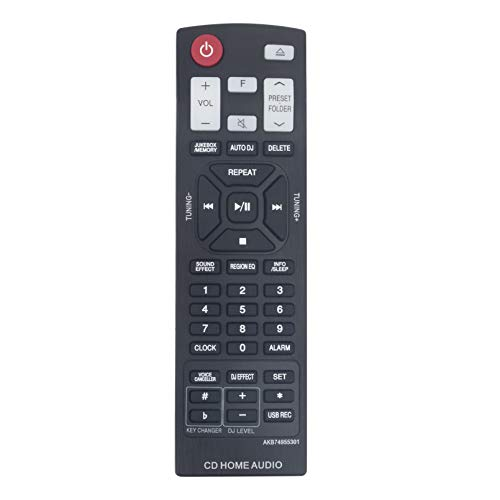 AKB74955301 Mando a Distancia de Repuesto - VINABTY AKB74955301 Reemplace Control Remoto para LG Home Audio System CM9760 OM5560 Remote Controller