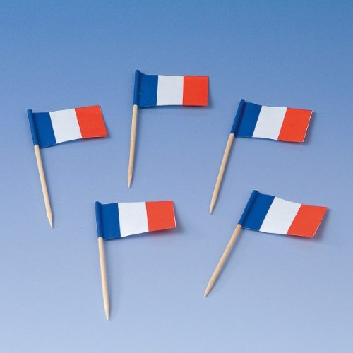 PARTY DISCOUNT ® Party-Picker Frankreich 200 Stück