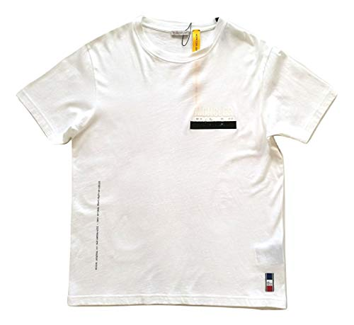 Moncler Camiseta de manga corta de algodón para hombre E1 09U 8000550 8391Q blanca