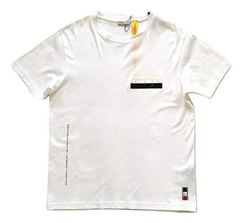 Moncler Camiseta de manga corta de algodón para hombre E1 09U 8000550 8391Q blanca blanco S