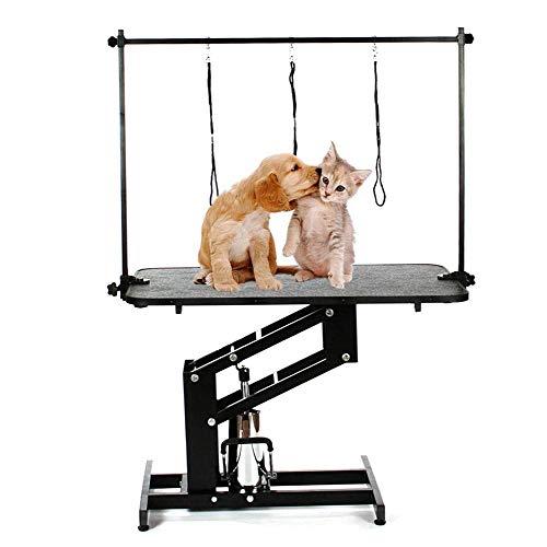 ZWW Huisdier Verzorging Tafel, Niet-slip Heavy Duty Professionele Verstelbare Hydraulische Hond Verzorging Werkbank voor Kleine en Middelgrote Katten Honden