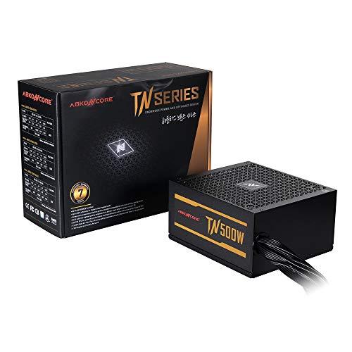 ABKONCORE TN500W Fuente de alimentación de bronce para PC 500W, 80+ certificado en bronce, 12V de un solo riel, ventilador silencioso de 135mm, ECO Friendly, PFC activo, 7 años de garantía PSU para juegos y otras aplicaciones