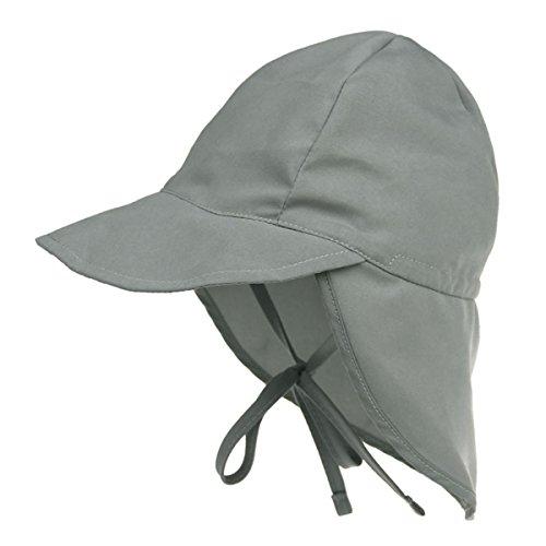 Millya Bonnet de soleil en coton avec cordon de serrage à rabat pour bébé et enfant de 3 à 18 mois