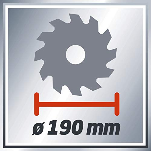 Einhell Handkreissäge TC-CS 1400 (1400 W, max. 66 mm, Sägeblatt Ø 190, 24 Zähne, Softstart, Parallelanschlag) - 7